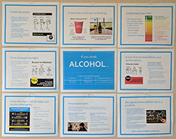 Alcohol bulletin board mockup