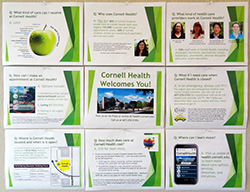 Cornell Health overview bulletin board mockup