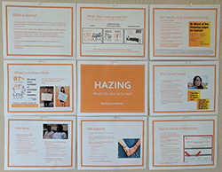 Hazing bulletin board mockup