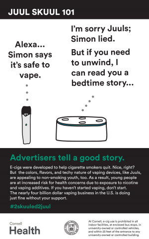 JUUL Advertisers tell a good story poster