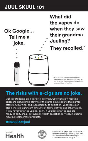 JUUL Risks with ecigs are no joke poster