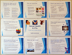 Sexual health & STIs bulletin board mockup