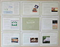 Sleep bulletin board mockup